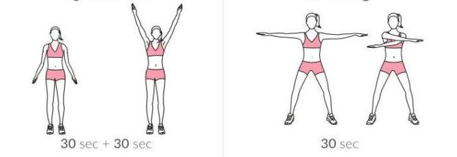 Разгряване в областта на раменете и горната част на гърба