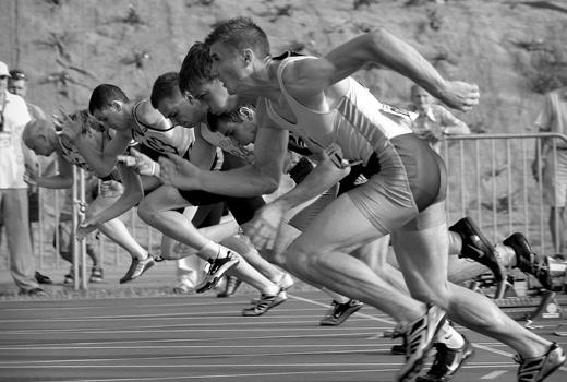 Психиката и постиженията в спорта - Старт на спринтова дисциплина